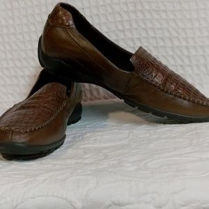 Ecco Brown Leather Loafers